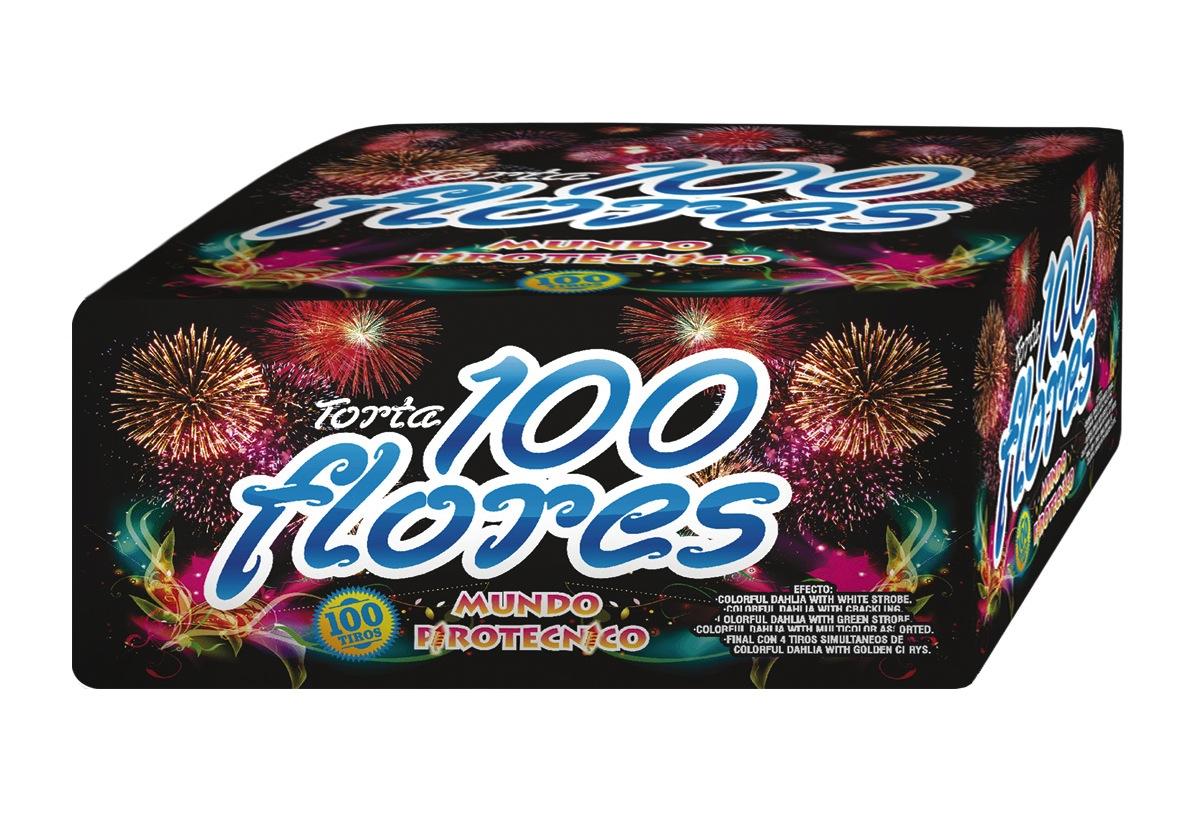 Torta 100 Flores - 100 tiros