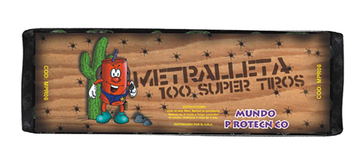 Metralleta 100 Super Tiros